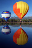 Don't slow down. Hot air balloons stock photography