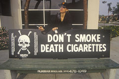 Don't Smoke Death Cigarettes sign Stock Photos