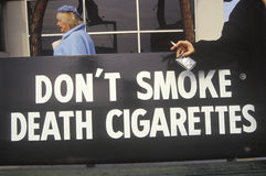 Don't smoke death cigarettes sign Royalty Free Stock Photo