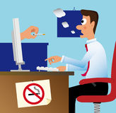Don't smoke in the office! Royalty Free Stock Image
