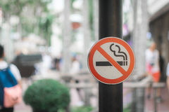 Don`t smoke sign with bokeh background Royalty Free Stock Photo