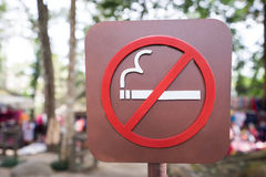 Don't smoke sign Royalty Free Stock Photography