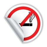 Don't smoke sticker Stock Photo