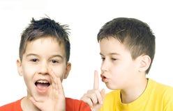 Don't speak!. Don't speak - communication concept royalty free stock image