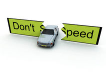 Don't Speed. Conceptual image about the dangers of speeding Stock Images