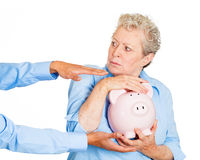 Don't steal my savings Stock Photo