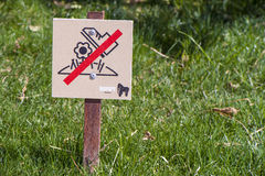 Don't Step on the Grass! Royalty Free Stock Photos