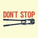 Don't stop illustration Stock Photos