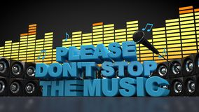 Don't stop the music Stock Photos