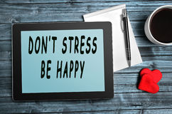 Don't stress,be happy quotes Royalty Free Stock Images