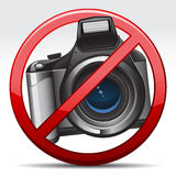 Don't take a Photo Sign. Vector illustration of Don't Take A Photo Sign icon Stock Photo