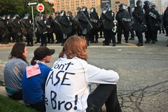 Don't Tase me Bro! G8/G20 Protests Toronto Royalty Free Stock Image