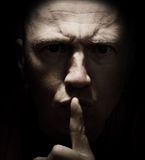 Don't tell anyone!. Concept of don't tell anyone! a dark secret Stock Photo