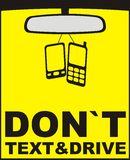 Don`t text and drive Royalty Free Stock Photography