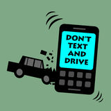Don't text and drive Royalty Free Stock Photography