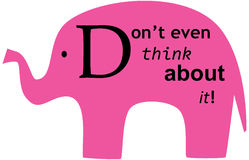 Don't think about pink elephant Stock Image