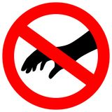 No touch please security vector sign Royalty Free Stock Photography