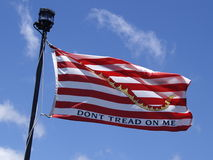 Don't Tread On Me Flag. The American Revolution's Don't Tread on Me Flag at Pearl Harbor, Hawaii Royalty Free Stock Photo