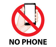 Don't use mobile phone signs Stock Photos