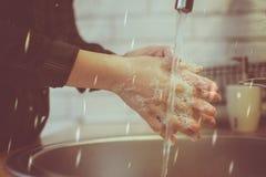 Don-` t vergessen zu waschender Hand stockfoto