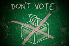 Don't vote concept Stock Images
