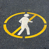 Don't walk. Sign on the road Royalty Free Stock Photo