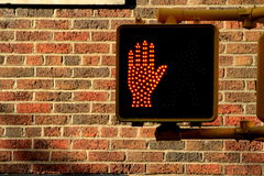 Don't walk traffic light Royalty Free Stock Photos