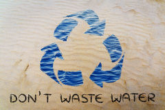 Don't waste water (recycle symbol) Stock Photo