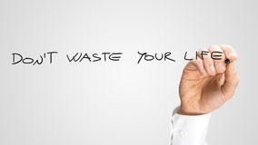 Don't Waste Your Life Royalty Free Stock Photo