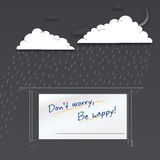 Don't worry be happy. Positive poster Stock Image