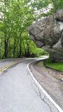 Taking an afternoon stroll up the blue ridge parkway. Don& x27;t you wish you where here royalty free stock photography