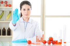 Don't ever try it, the gmo food is not the cure Stock Images