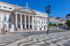 Dona Μαρία ΙΙ εθνικό θέατρο, Λισσαβώνα Στοκ Φωτογραφίες