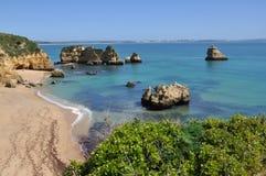 Dona Ана Прая, Алгарве, Португалия, Европа Стоковая Фотография RF