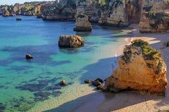 Dona Ana Beach en Lagos, Algarve, Portugal fotos de archivo