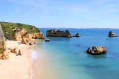 Dona Ana Beach Lagos, Portugal Royaltyfria Foton