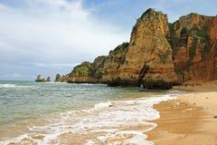 Dona Ana Beach Lagos, Portugal Fotografering för Bildbyråer