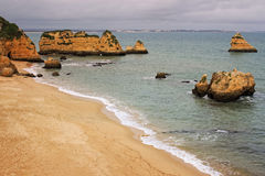 Dona Ana Beach, Lagos, Portugal Photographie stock libre de droits