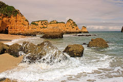 Dona Ana Beach, Lagos, Portugal Photos libres de droits