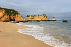 Dona Ana Beach, Lagos, Portugal Stock Photos