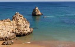 Dona Ana beach  in Lagos, Portugal . Royalty Free Stock Image
