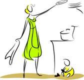 Dona de casa Ilustração do Vetor