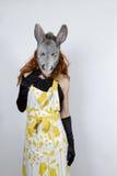 Dona de casa do asno no vestido de noite Fotos de Stock Royalty Free