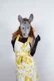 Dona de casa do asno no vestido de noite Imagens de Stock