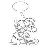 Dona de casa dos desenhos animados Fotos de Stock Royalty Free