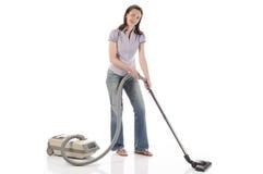 Dona de casa, empregada doméstica com aspirador de p30 Imagem de Stock Royalty Free