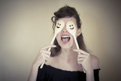 Dona de casa feliz Imagens de Stock