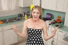 Dona de casa irritada Fotos de Stock