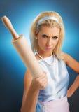 Dona de casa irritada Imagem de Stock Royalty Free