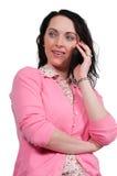 Dona de casa no telefone Imagem de Stock Royalty Free